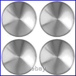 16 FULL MOON HOT ROD RACING DISC HUB CAPS SOLID WHEEL COVERS RIMS New Set of 4