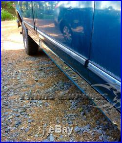 1987-1996 Ford F-Series Pickup Regular Cab Short Bed Chrome Rocker Panel Trim-3