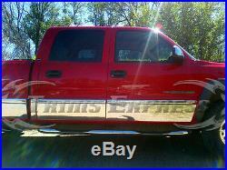 2001-2006 Chevy Silverado Crew Cab 6.8' Short Bed Rocker Panel Trim 8 7/8 WithF