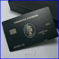2021 American Express Customize Your Own Black Metal Card Centurion Personalised