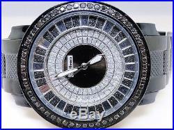 2.25 Ct New Mens Jojo/Jojino/Joe Rodeo Metal 56 Black Diamond Watch Pj-1037A