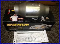 2.5 Magnaflow Universal 59956 Catalytic Converter High Flow Spun Metallic Cat