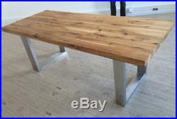 2 x STAINLESS STEEL Table Legs Designer / Industrial / Dining / Live Edge