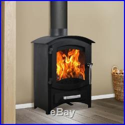 6.22KW Multi-Fuel Wood burning Log Burner Traditional Woodburner Stove Fireplace