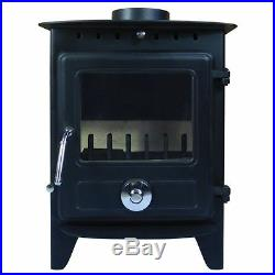 6.5KW Reepham Clean Burn Modern Log Burner Multifuel Woodburning Stove Fireplace