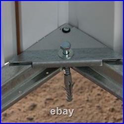 6ft METAL GARDEN SHED YARDMASTER 6x6 APEX HOT DIPPED GALVANISED STEEL STORAGE