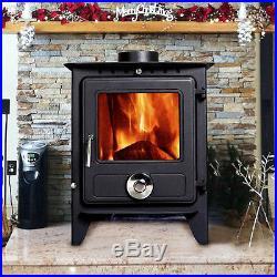 8KW Reepham Clean Burn Log Burner Multi Fuel Woodburning Stove Fireplace Modern