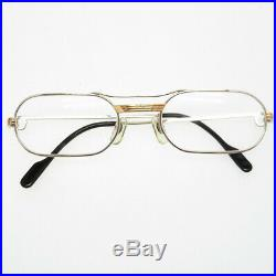 AUTHENTIC CARTIER glasses Trinity sunglasses Silver/Gold Stainless Steel 0135