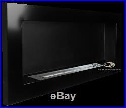 BIO ETHANOL FIREPLACE Euphoria BLACK GLOSS 90x40 ECO BURNER + free+ TUV cert
