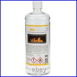 BIO ETHANOL FIREPLACE WALL MOUNTED 900x400 ECO FIRE BURNER BLACK + ACCESSORIES