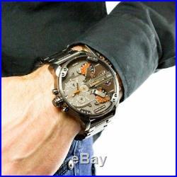 BRAND NEW Diesel DZ7315 Mr Daddy 2.0 Gun Metal Chronograph Mens Watch Gift Box