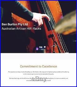 Ben Burton Australian Audiophile HiFi Rack (Per Shelf/Tier including Legs)