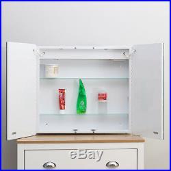 Bluetooth Bathroom Mirror Cabinet Cupboard with LED Light/Shaver/Sensor/Demister