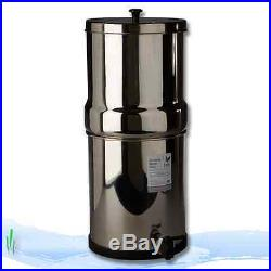 British Berkefeld Stainless Steel Gravity Water Filter + 2 Heavy Metal ATC Filts