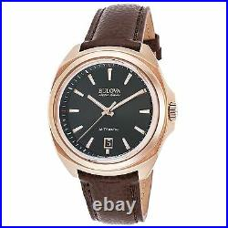Bulova 64B126 Men's Accu-Swiss Telc Rose-Tone Automatic Watch