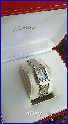 Cartier Tank Francaise 2384 Box & Papers Ladies Watch Bi-metal Gold s/s