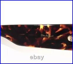Christian Dior Addict 1 Sunglasses Rose Gold Havana Blue Lens000/A9 Women Shield