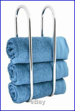 Chrome Bathroom Wall Mounted Towel Rail Storage Rack / Stand / Holder Bath New