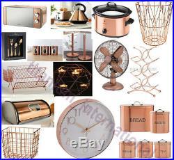 Copper Microwave Kettle Toaster Cutlery Set Canister Cooker Pan Fan Bin Mug Tree