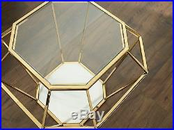 Crystal Glass Coffee Table With Marble Base Modern Various Colours