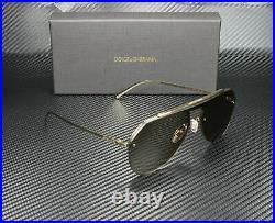 DOLCE & GABBANA DG2213 02 73 Gold Brown 34 mm Men's Sunglasses