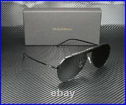DOLCE & GABBANA DG2213 110687 Matte Black Grey 34 mm Men's Sunglasses