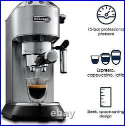 DeLonghi EC680M Dedica 15-Bar Pump Espresso Machine, Stainless Steel REFURB