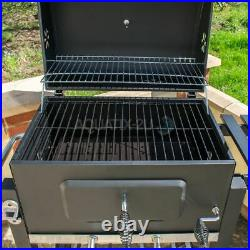 Deluxe Charcoal Bbq Garden Trolley Large Outdoor Stainless Steel Grill Barbeque