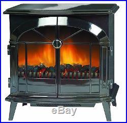 Dimplex Stockbridge Electric Stove Freestanding Fire 2KW Optiflame Gloss Black