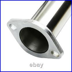 Dual Muffler 4.5 Beveled Edge Tip Catback Exhaust System for 03-09 350Z/G35 Z33