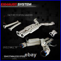 Dual Muffler 4.5 Burnt Tip Catback Exhaust System for 03-09 350Z/G35 Fairlady