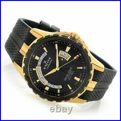 Edox 83006 357JNC NID Men's Grand Ocean Black Automatic Watch
