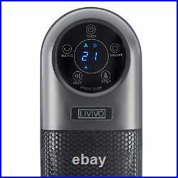 Electric 2000w Tower 90° Oscillating Fan Ceramic Ptc Heater Digital Timer Remote