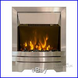 GAS FIRE CHROME COAL CLASS1 FULL DEPTH GAS FIRE HIGH 4kw HEAT OUTPUT BNIB