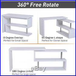 Executive Office Desk Compact Computer PC Table White Home Large Corner Study