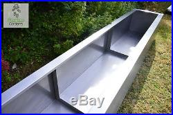 Extra Large Raised Modern Planters / Troughs 2 Meter Stainless Steel Metal