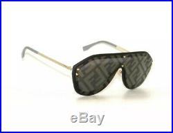 Fendi FABULOUS FF M0039 GS 2M2 Black Grey Gold Mirror Men Women Sunglasses New