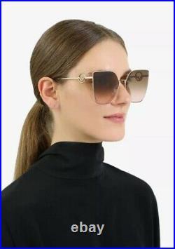 Fendi F IS FENDI FF 0323/S S45/M2 Pink Gold Rose Pink Brown Gradient Sunglasses