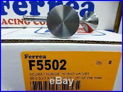 Ferrea 5000 Valves Flat Honda Acura GSR DOHC VTEC B16A1 B16A3 B17A1 B18C2 B18C3