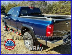 Fit2002-2008 Dodge Ram Quad Cab Short Bed Rocker Panel Trim 8 Stainless Steel