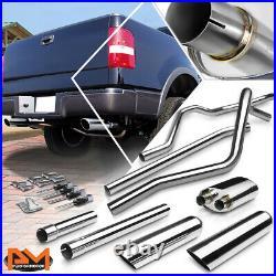 For 04-08 Ford F150 4.6/5.4 V8 3.5 Slanted Tip Muffler Catback Exhaust System