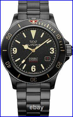 Glycine GL0290 Men's Combat Sub 42 Vintage Automatic 42mm Black PVD Watch