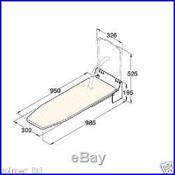 Hafele Ironfix Wall Mounting Folding Ironing Board 568.66.723