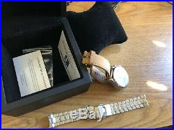 Helgray Silverstone Green VK64 meca-quartz With Metal Bracelet and Barton Leather