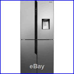Hisense FMN431W20C 79cm Frost Free American Fridge Freezer Stainless Steel