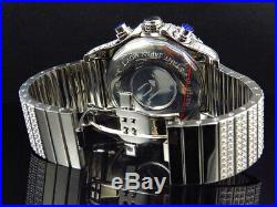 Iced Stainless Steel Simulated Diamond Watch White Gold Finish 48MM BR-02