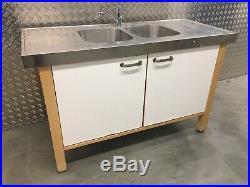 Ikea Varde Freestanding kitchen sink unit Stainless-steel Top Sutton