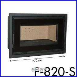 Inset Cassette Stove 820-S 12kw Wood Burning Multi Fuel Burner Modern Stoves
