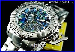 Invicta 47MM Subaqua Noma II LE Swiss Chronograph ABALONE DIAL SS Bracelet Watch