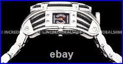 Invicta Men RESERVE BOLT ZEUS TRIA Twisted Metal SWISS MVT Chrono Silver Watch